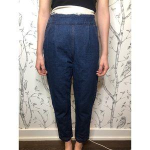 Etam Super Hi Waist Pleated Mom Jeans - Size M